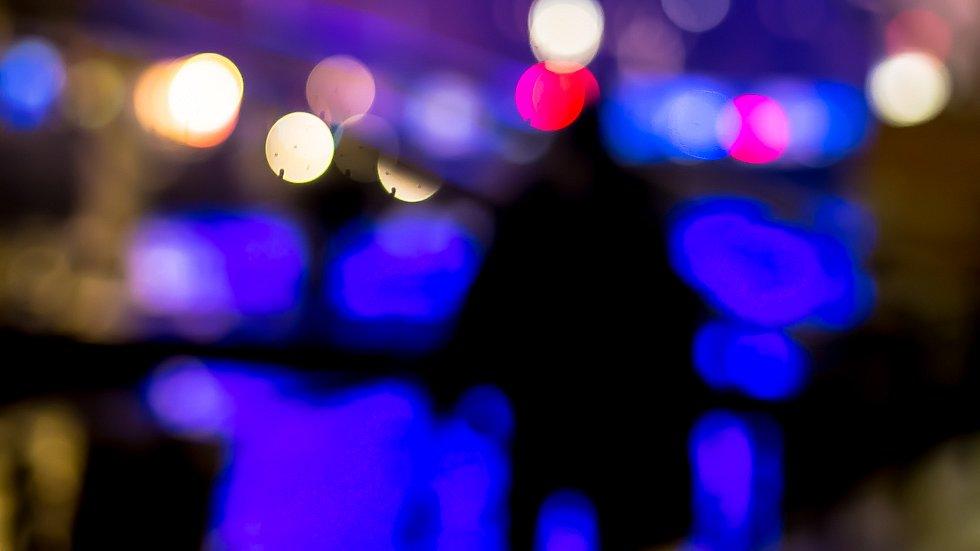 blue / lights / colors